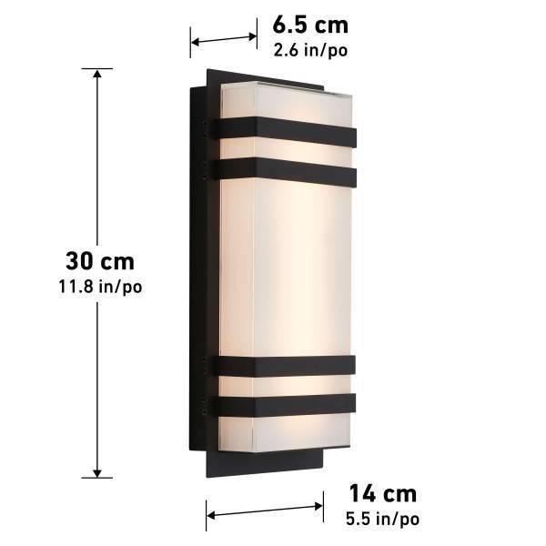 Glowbox 3 Applique D'extérieur à DEL Integrée Noir