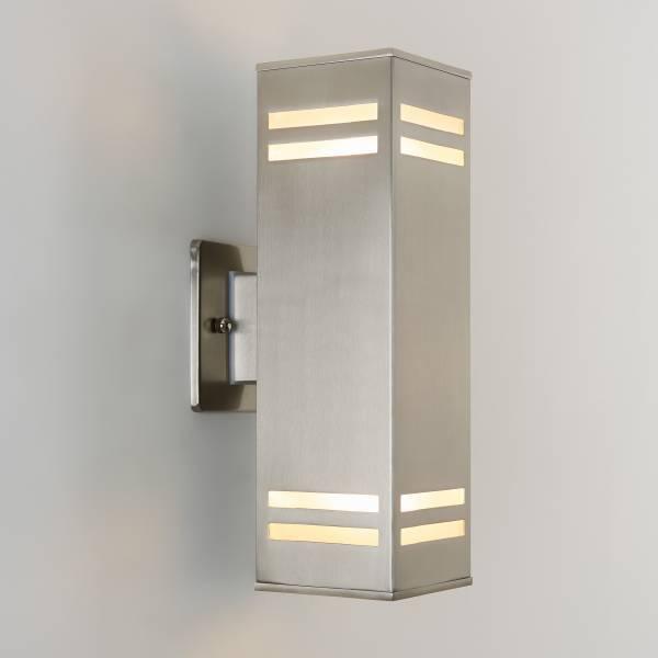 Strike Silver Outdoor Wall Light