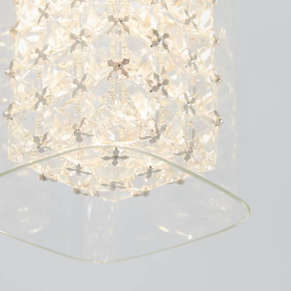 Crystal Cube 1-Light LED Pendant Light