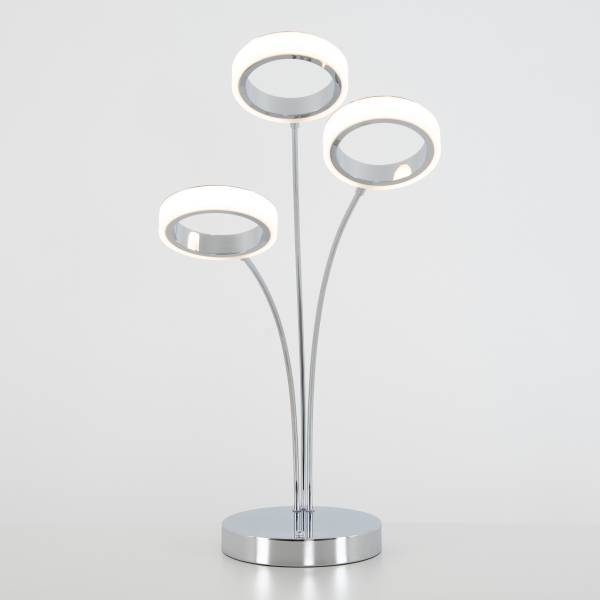 Optical LED Table Lamp Chrome