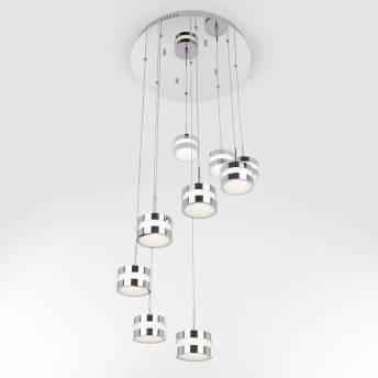 La Creme 9-light integrated LED Pendant