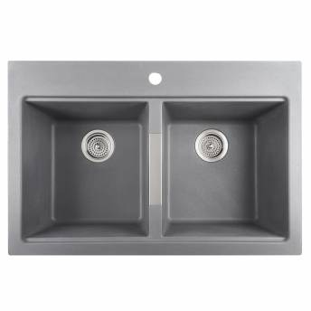 Twin Bowl Granit Sink Grey