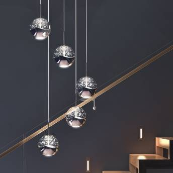 Oracle 5-light integrated LED Pendant
