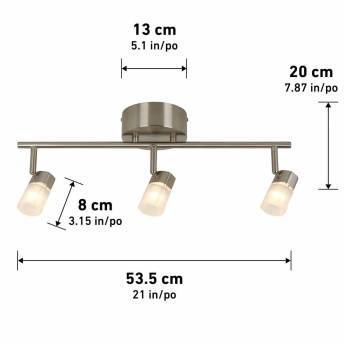 Vars 3-light Integrated LED Track Light