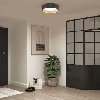 Alton Integrated LED CCT Flush Mount Wood Effect Accent