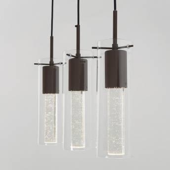 Bubble Flow 3-light Bronze Pendant