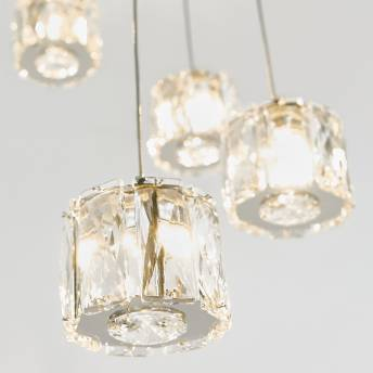 Glaceo 5-light Integrated LED Pendant