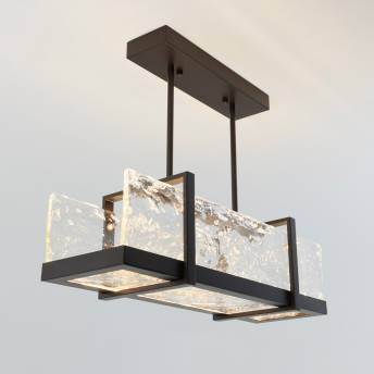 Melted Ice Integrated LED Pendant