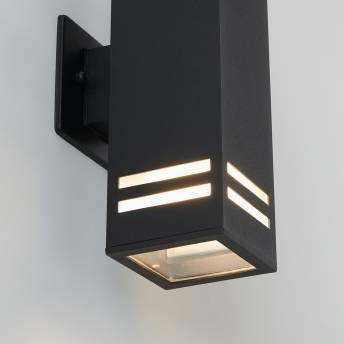 Strike Black Outdoor Wall Light
