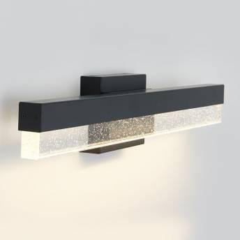 Bubble Bar Integrated LED Vanity Light Black