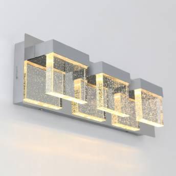 Bubble Cube 3-Light LED Vanity Light