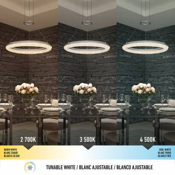 Famous Optical Integrated LED Pendant Chrome