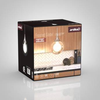 Frosted Globe 1-light Integrated LED Pendant