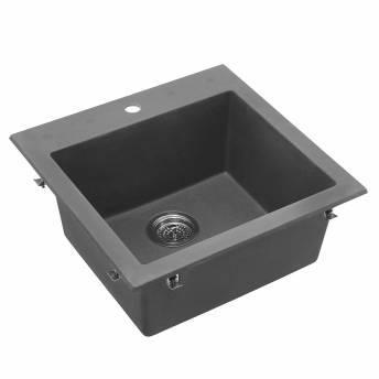 Odyssey Single Bowl Granite Sink Grey