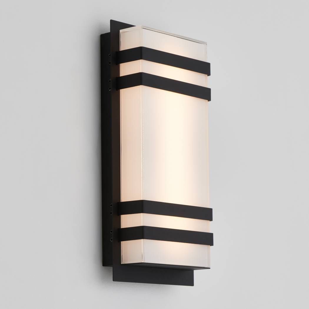 Glowbox 3 Outdoor LED Wall Light Black