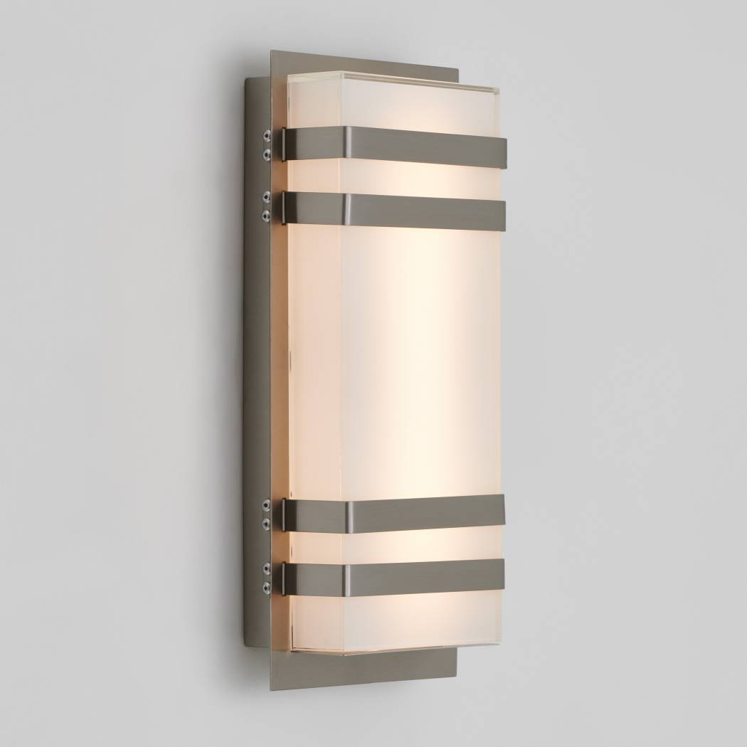 Glowbox 3 Outdoor LED Wall Light Stainless Steel
