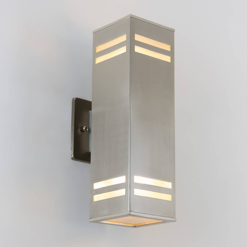 Strike Silver Outdoor Wall Light