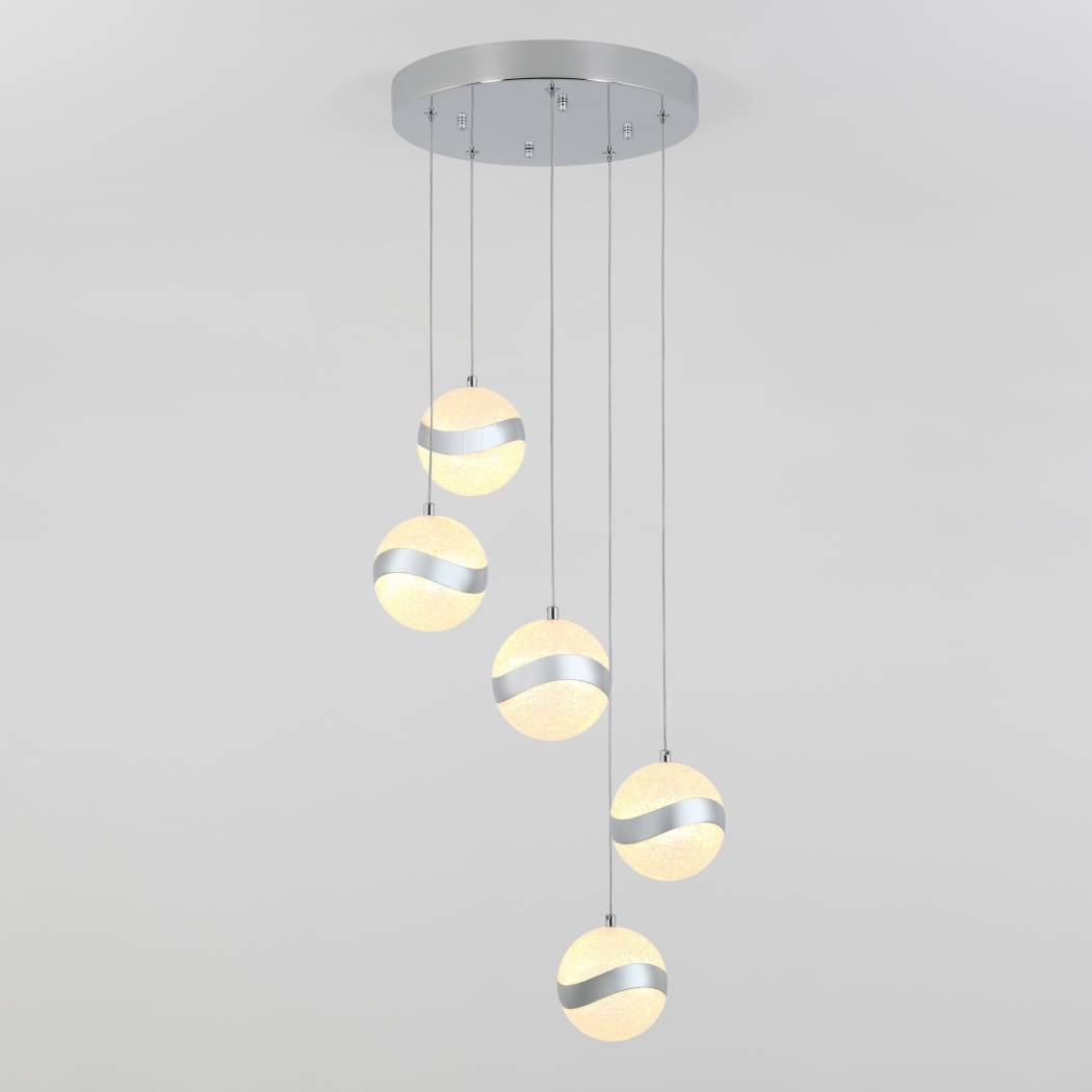Wavey 5-Light Integrated LED Pendant