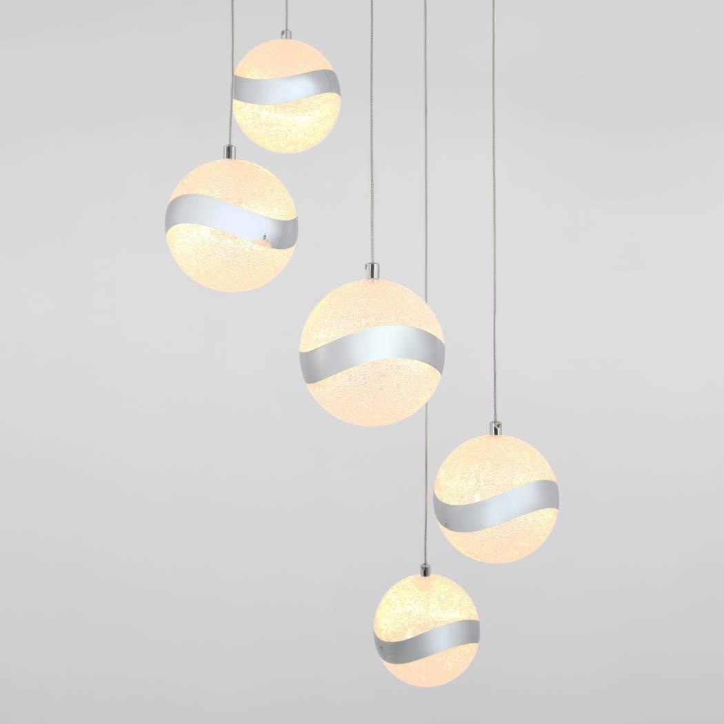 Wavey 5-Light Integrated LED Pendant