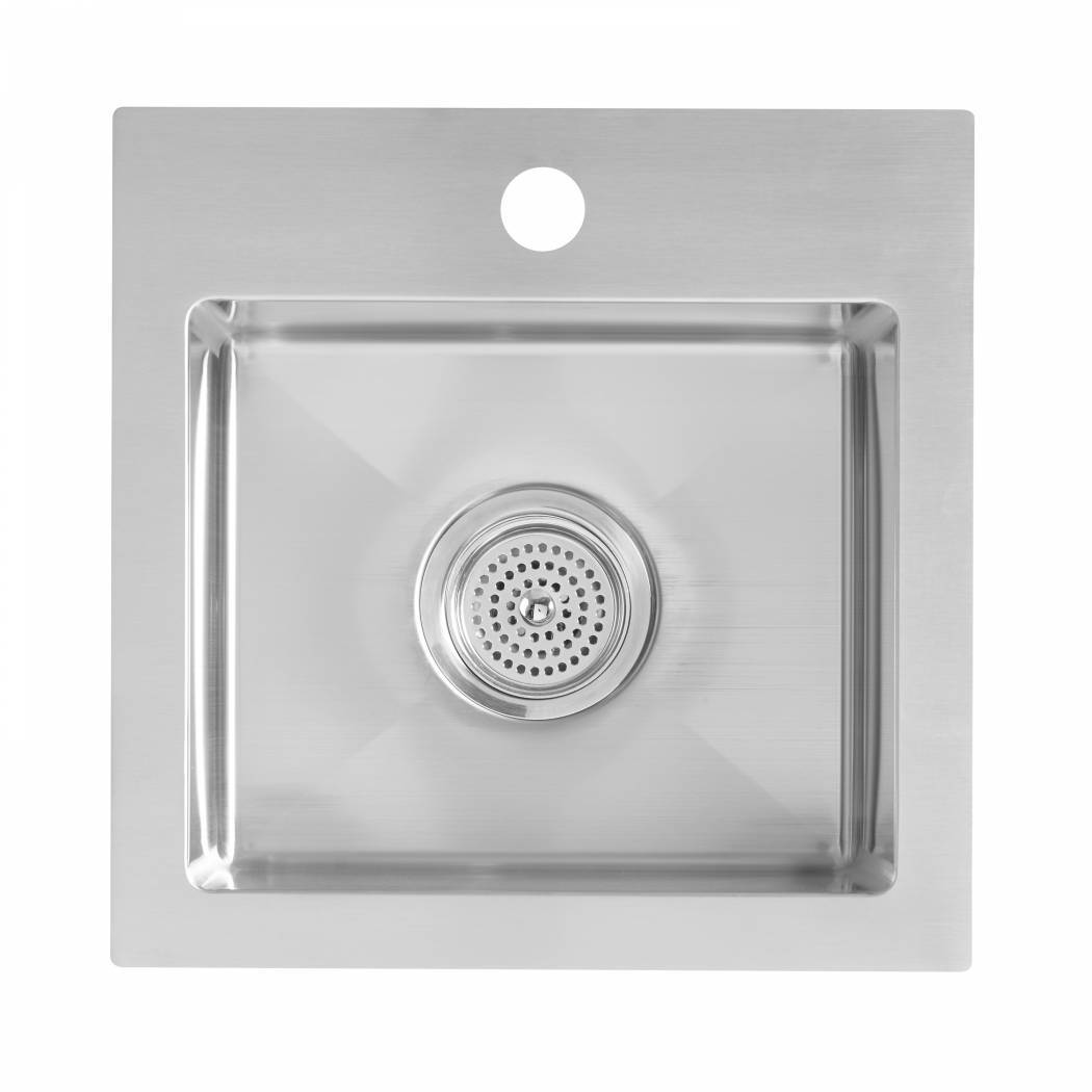 Plaza Bar Single Bowl Sink Stainless Steel