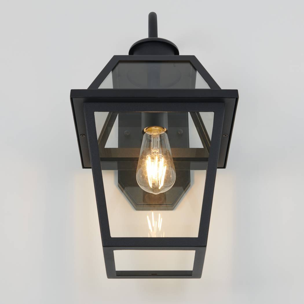 Colonial Outdoor LED Wall Light Black