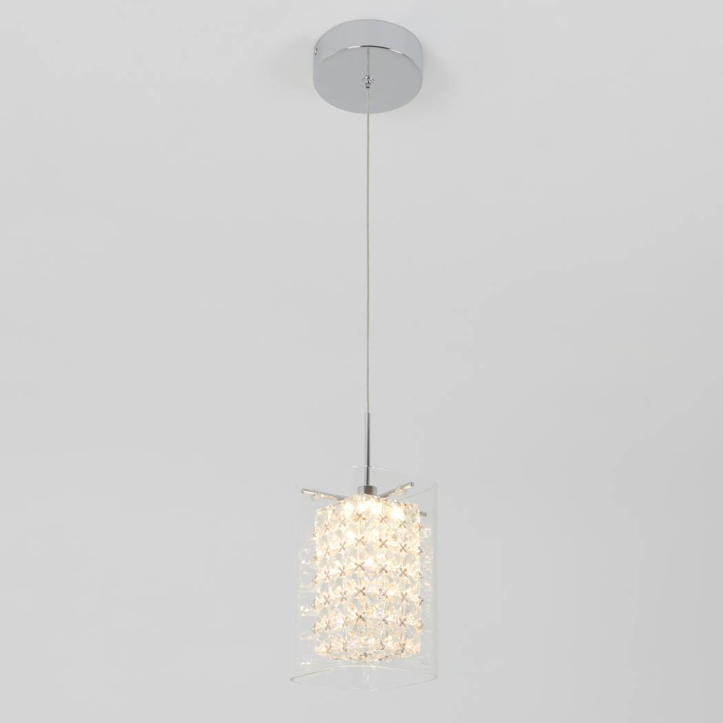 Crystal Cube 1-Light LED Pendant Light