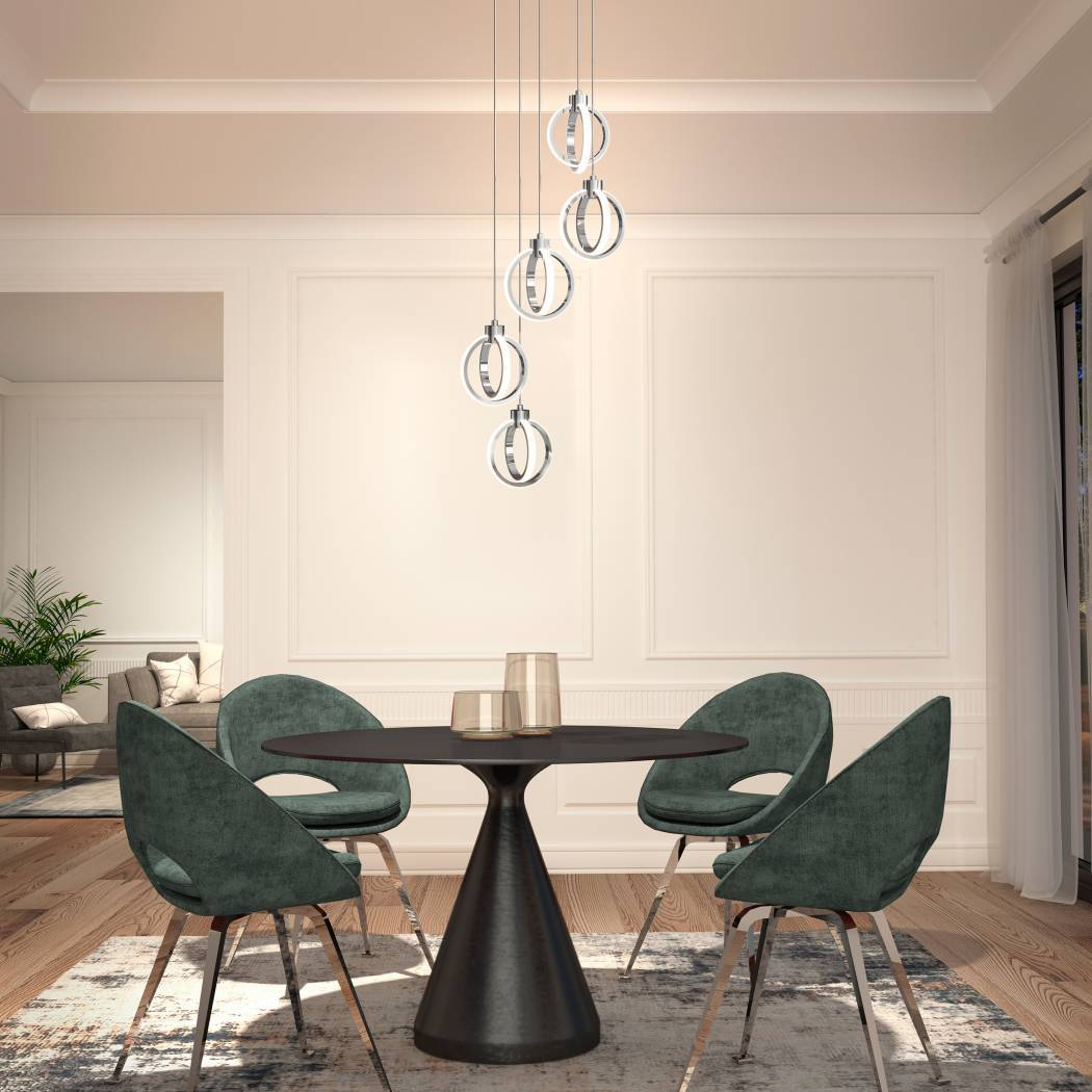 Soho 5-Light Integrated LED Pendant