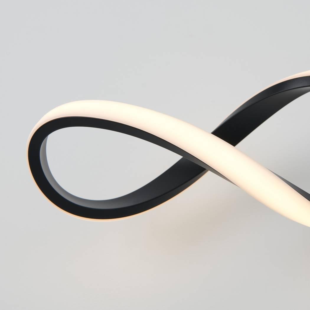 Swirl Integrated LED Vanity Light Black