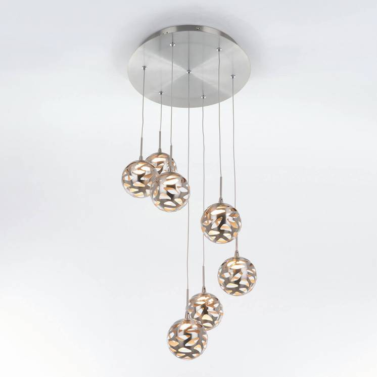 7th Avenue 7-light Integrated LED Pendant