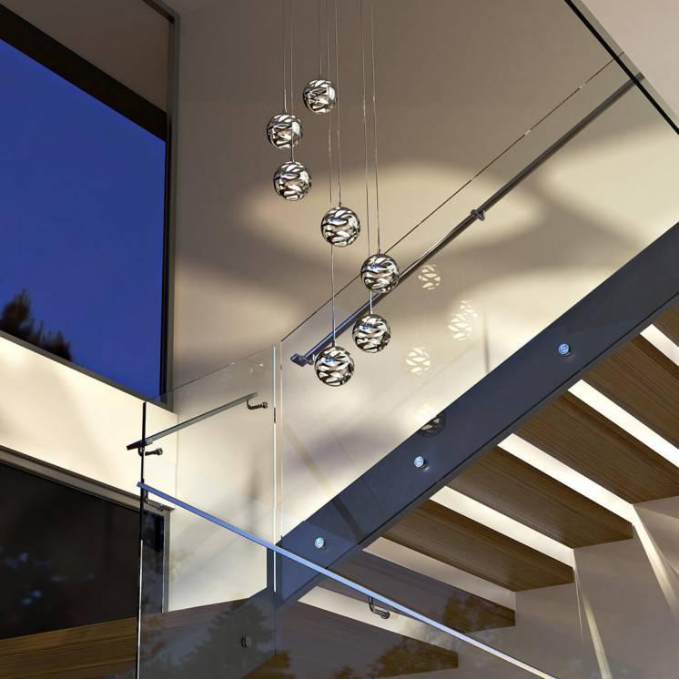 7th Avenue 7-light Integrated LED Pendant