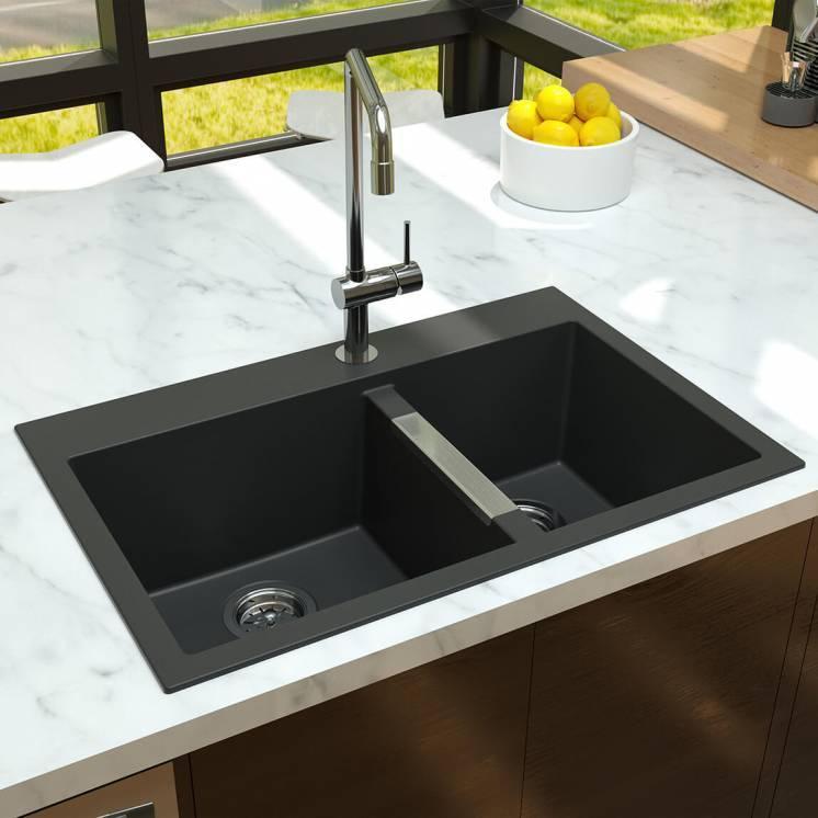 Aquae Double Bowl Granite Sink