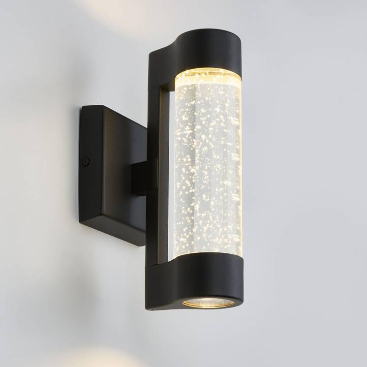 Bubble Flow Black Integrated LED Outdoor Light