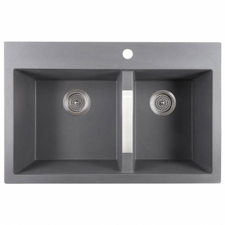 Double Bowl Granite Sink Grey