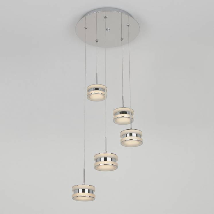 Ibiza 5-light Integrated LED Spiral Pendant