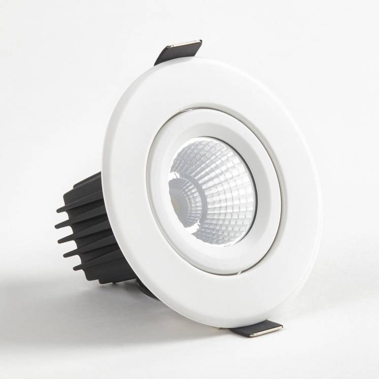 Radius Round Recessed Light White