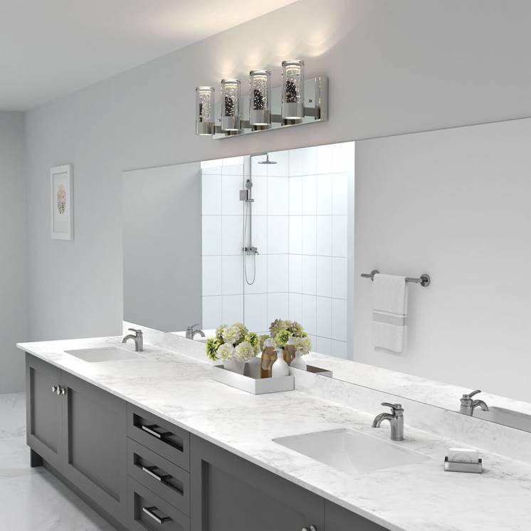 Ratio Applique meuble lavabo à 4 lumières DEL