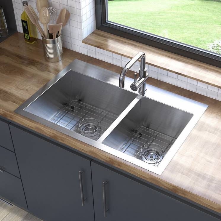Acero Double Bowl Stainless Steel Sink