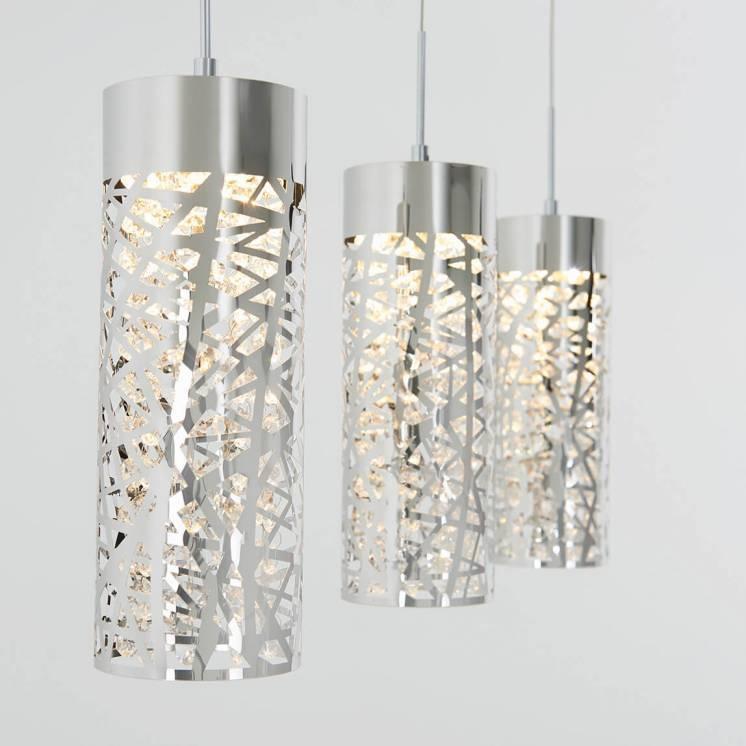 Crystal Nest Suspension à 3 lumières à DEL