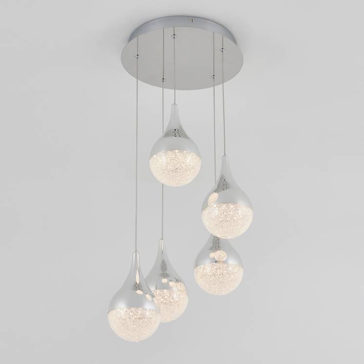 Glitzer Suspension à 5 lumières DEL intégrées