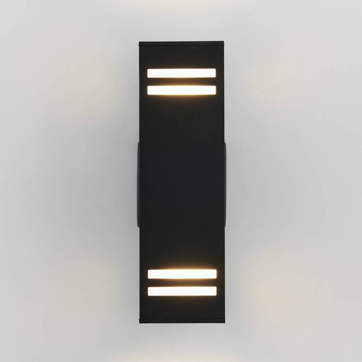 Strike Black Outdoor Wall Light