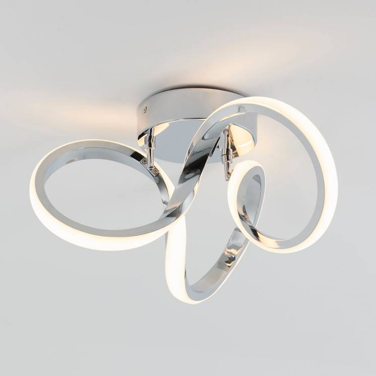 Swirl Integrated LED Flush Mount Chrome