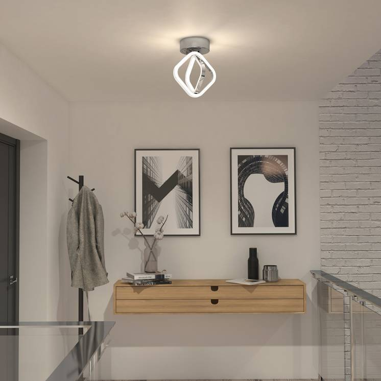 Axel Integrated LED Flush Mount Chrome