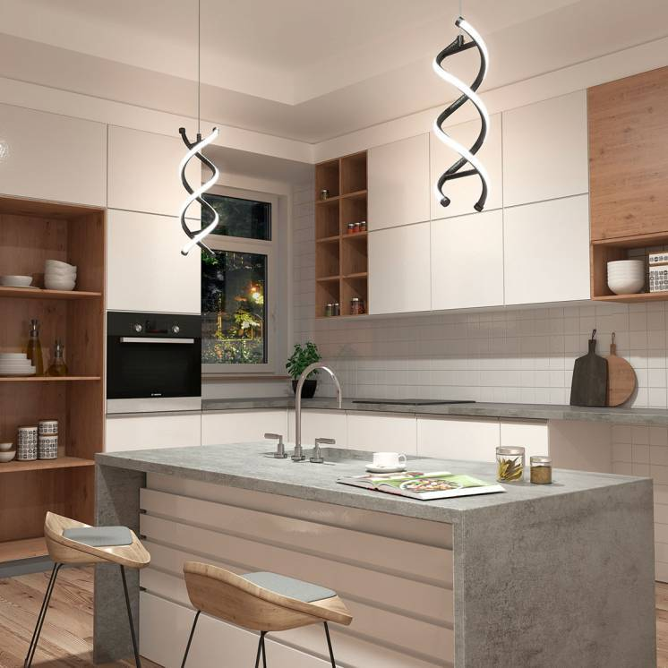 DNA Integrated LED Pendant Black