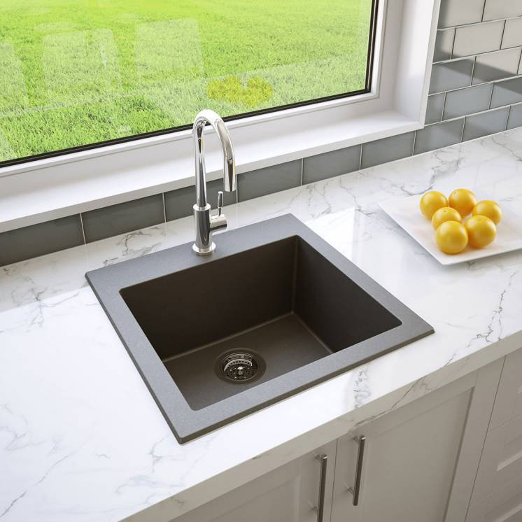 Odyssey Single Bowl Granite Sink Grey
