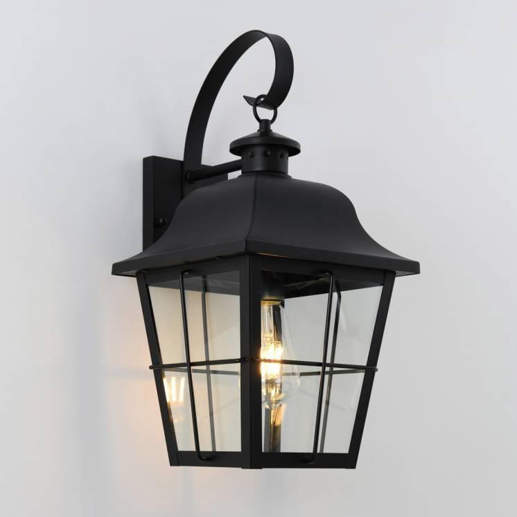 Jatoba Outdoor Wall Lantern Light Black