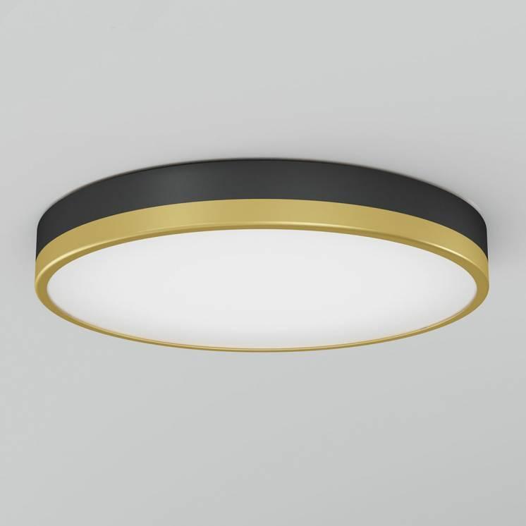 Kent Integrated LED Flush Mount Black and Gold