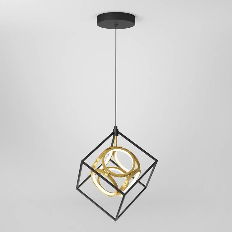 Mini Luxury Integrated LED Pendant Black and Gold