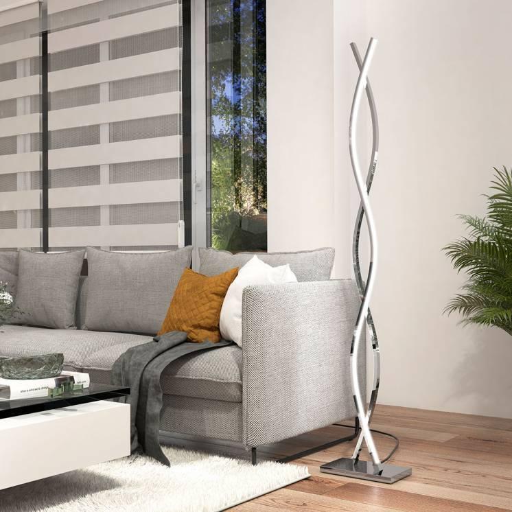 Wave Floor Lamp Chrome