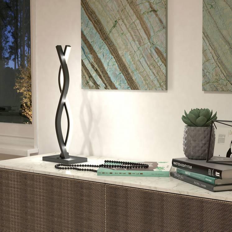 Wave Black LED Table Lamp