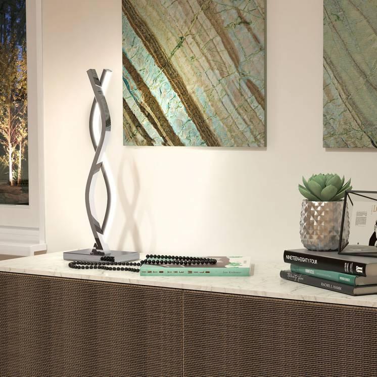 Wave Chrome LED Table Lamp